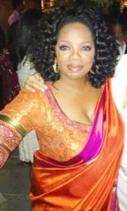 Oprah Winfrey dressed in Sari