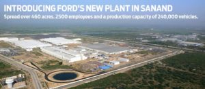 Ford's New Plant at Sanand, India