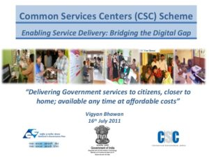 Activities at Common Services Centers