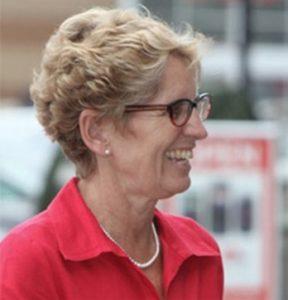 Premier Kathleen Wynne of Ontario, Canada