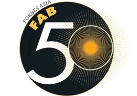 Forbes Asia's Fab 50 Logo