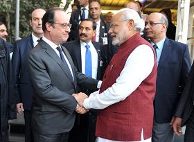 PM Narendra Modi and French President Francois Hollande