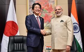 Prime Ministers Abe and Modi