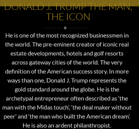 The Trump Brand on Realtor Lodha's Website