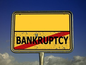 Signboard on Bankruptcy