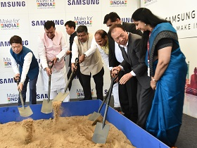Ground breaking of new Samsung Facility