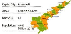 Map of Andhra Pradesh