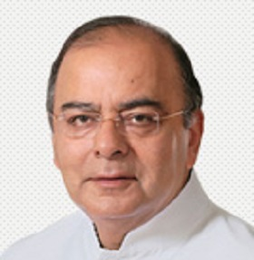 Picture of India's finance minister Arun Jaitley